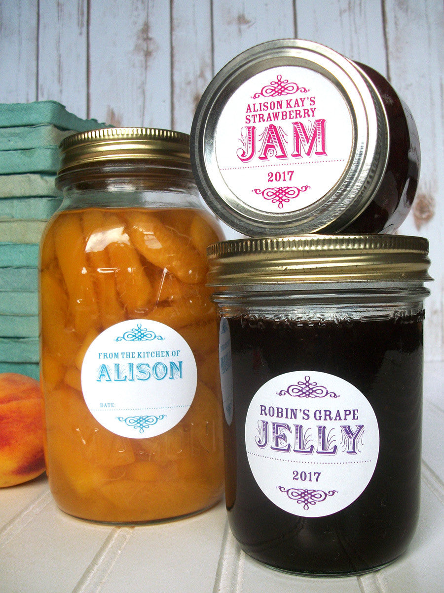 Custom Mason Canning Jar Labels | CanningCrafts.com