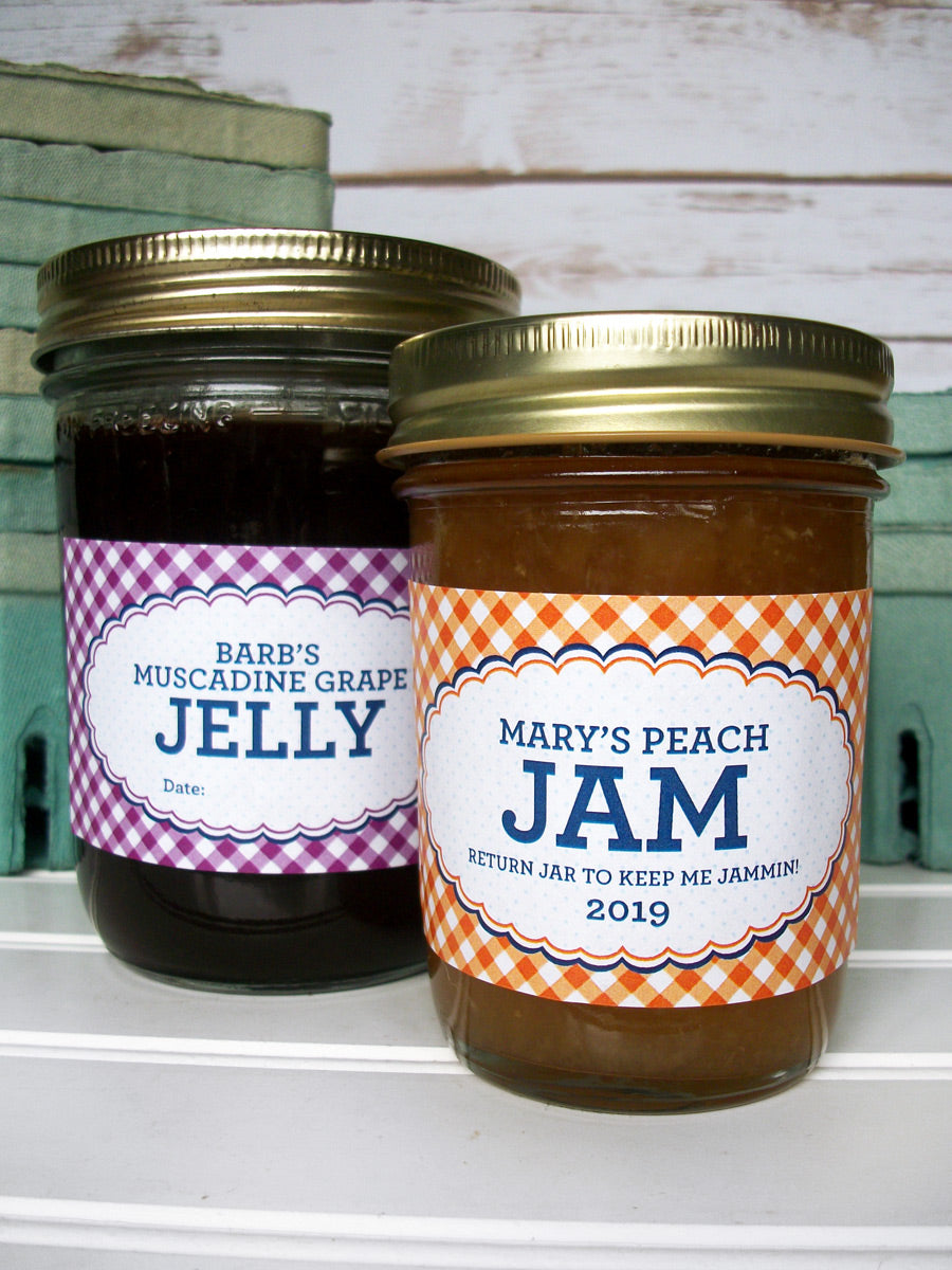 Custom Farmer's Market Rectangle Canning Labels | CanningCrafts.com