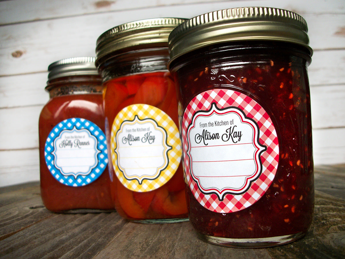 Custom Kitchen Canning Labels printed with your name | CanningCrafts.com