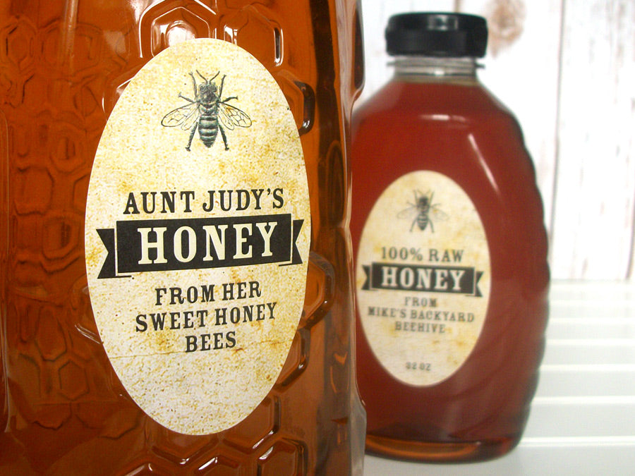 custom vintage oval honey labels | CanningCrafts.com