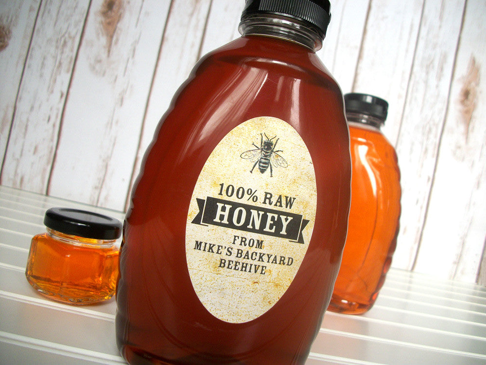 custom oval honey jar labels | CanningCrafts.com