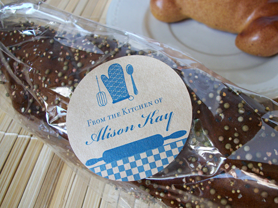 Custom Blue From the Kitchen of Labels | CanningCrafts.com