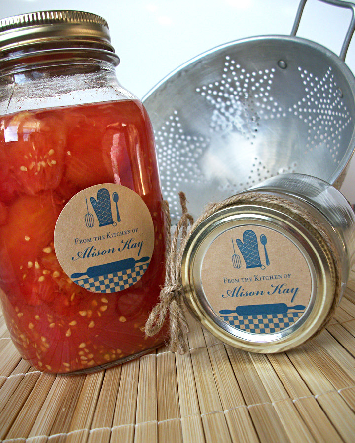 Custom Blue Kitchen Canning Jar Labels | CanningCrafts.com