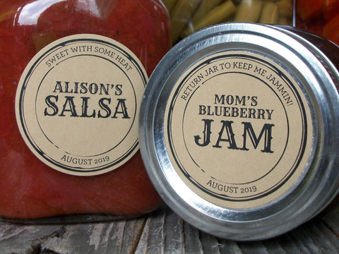 Custom Kraft Apothecary Canning Labels | CanningCrafts.com