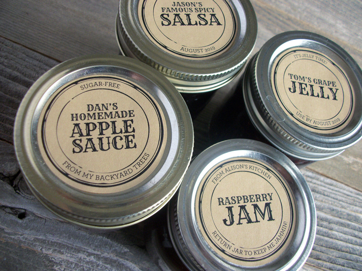 Custom Kraft Apothecary Canning Jar Labels | CanningCrafts.com