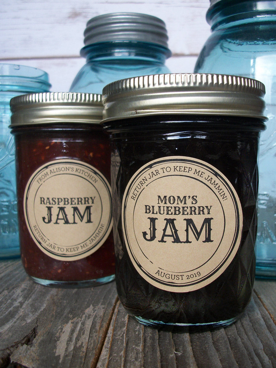Custom Kraft Apothecary Jam & Jelly Jar Labels | CanningCrafts.com