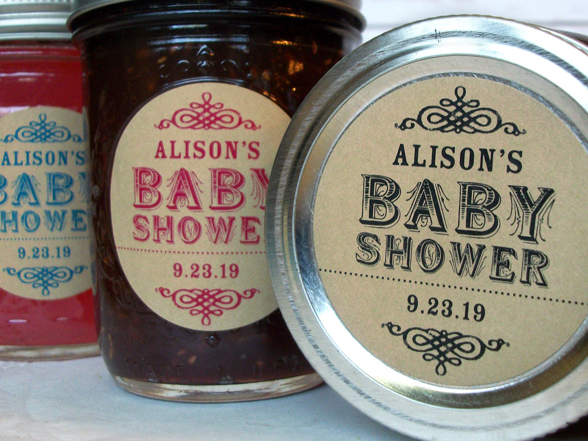 Custom Kraft Baby Shower Canning Jar & Favor Labels | CanningCrafts.com