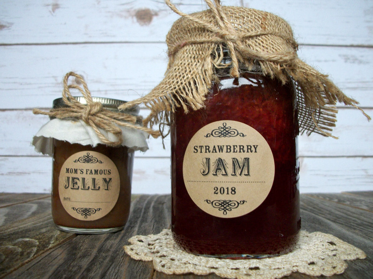Custom Kraft Canning Jam & Jelly Jar Labels | CanningCrafts.com