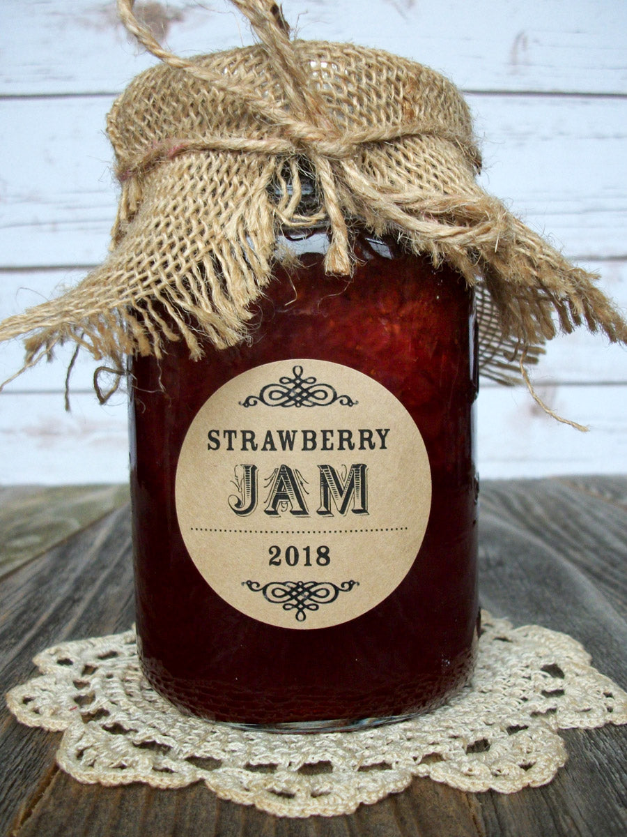 Custom Kraft Jam Jar Labels | CanningCrafts.com