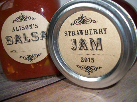 Custom Kraft Canning Labels | CanningCrafts.com