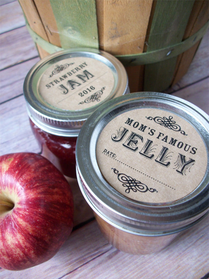 Custom Kraft Canning Jar Labels | CanningCrafts.com