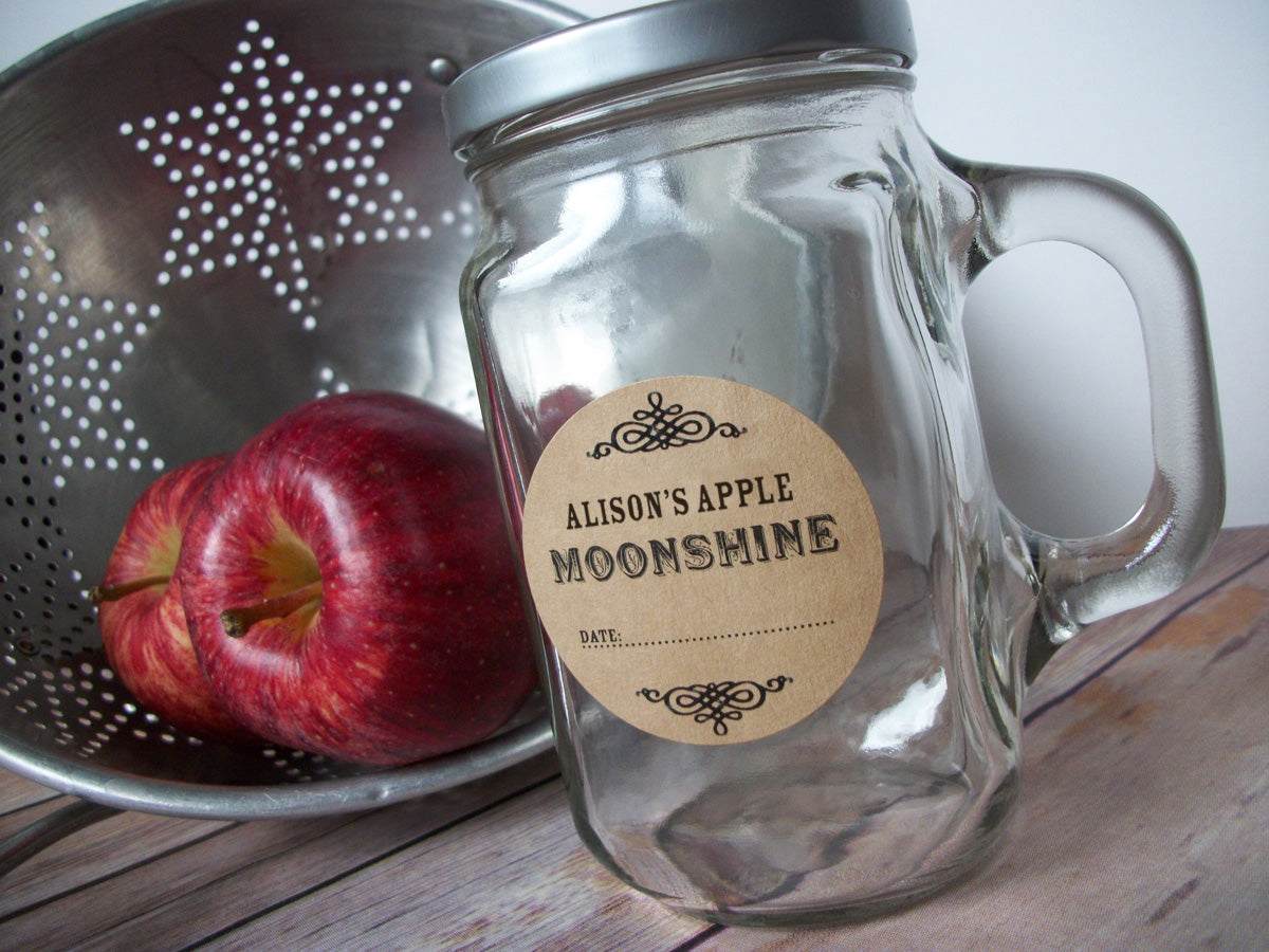 Custom Kraft Moonshine Canning Labels | CanningCrafts.com