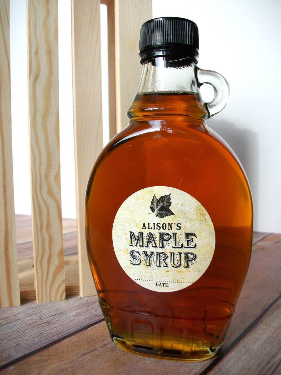 Custom Vintage Maple Syrup Bottle Label | CanningCrafts.com