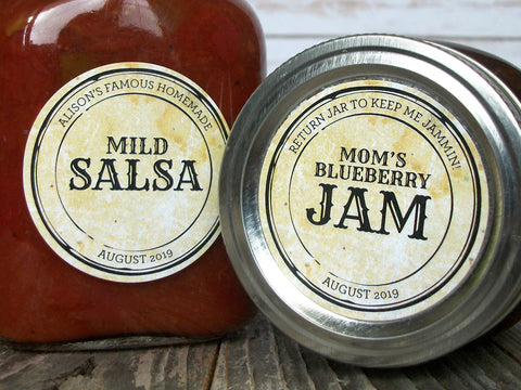 Custom Vintage Apothecary Canning Labels | CanningCrafts.com