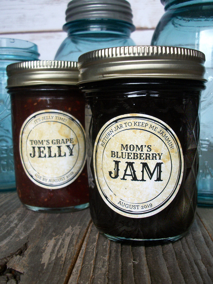 Custom Vintage Apothecary Jam & Jelly Jar Canning Labels | CanningCrafts.com