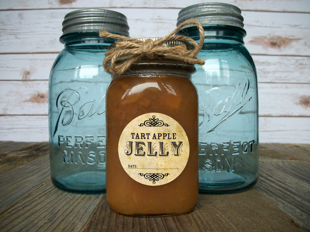 vintage canning jar labels