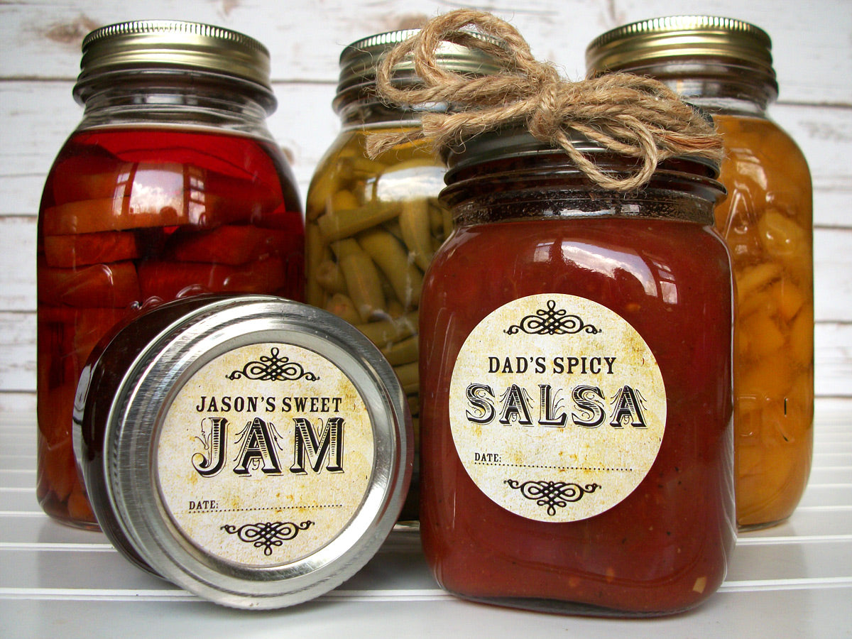 custom vintage mason canning jar labels | CanningCrafts.com