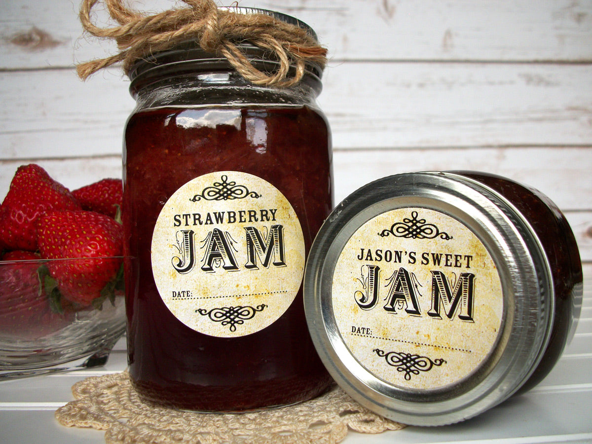 custom vintage canning jam jar labels | CanningCrafts.com