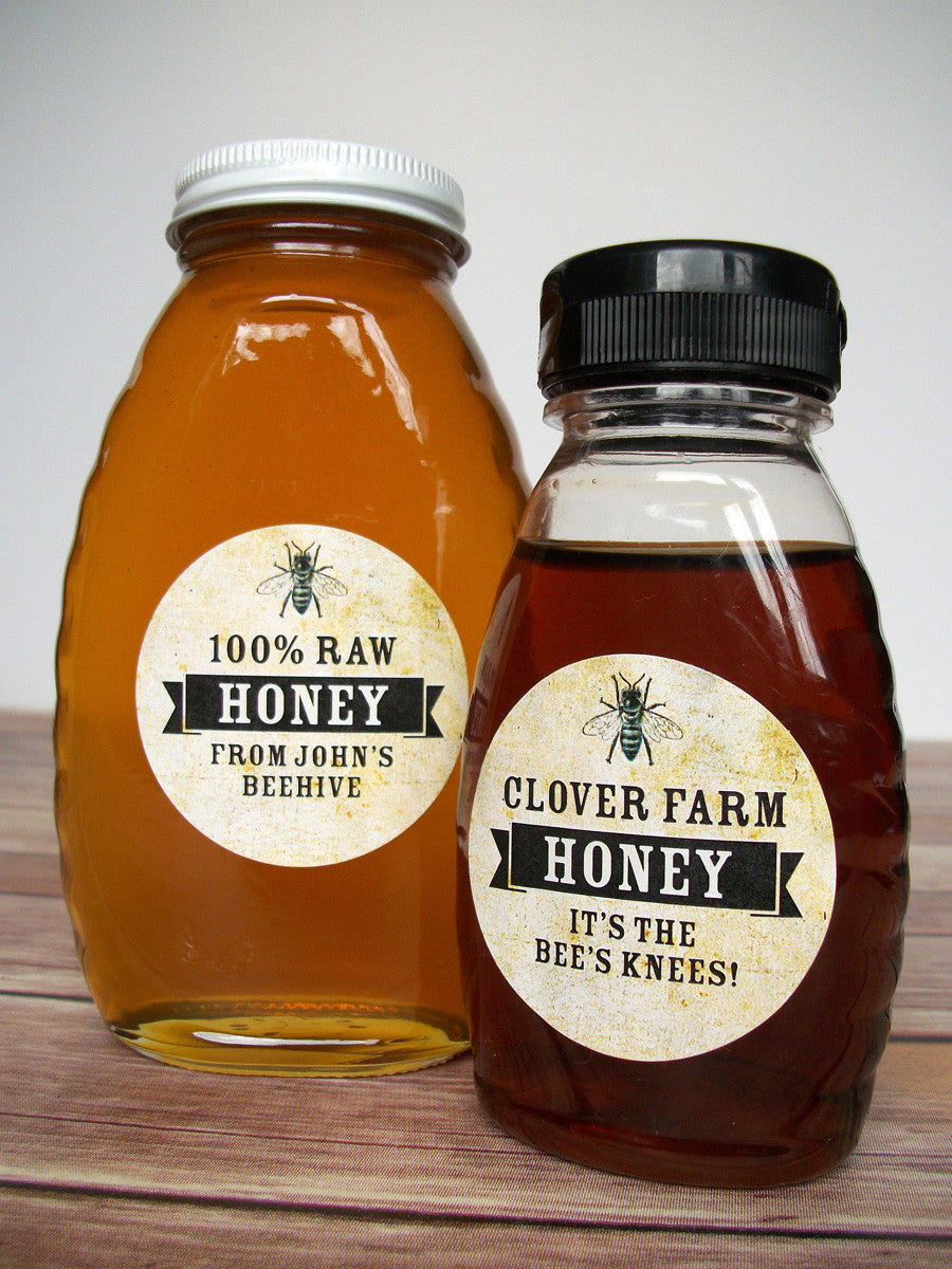 Custom Vintage Honey Bottle Labels Gifts For Backyard