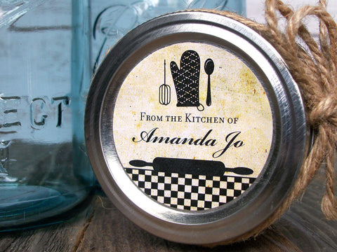 custom vintage Kitchen Labels | CanningCrafts.com