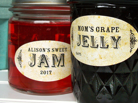 Custom Vintage Oval Canning Labels | CanningCrafts.com
