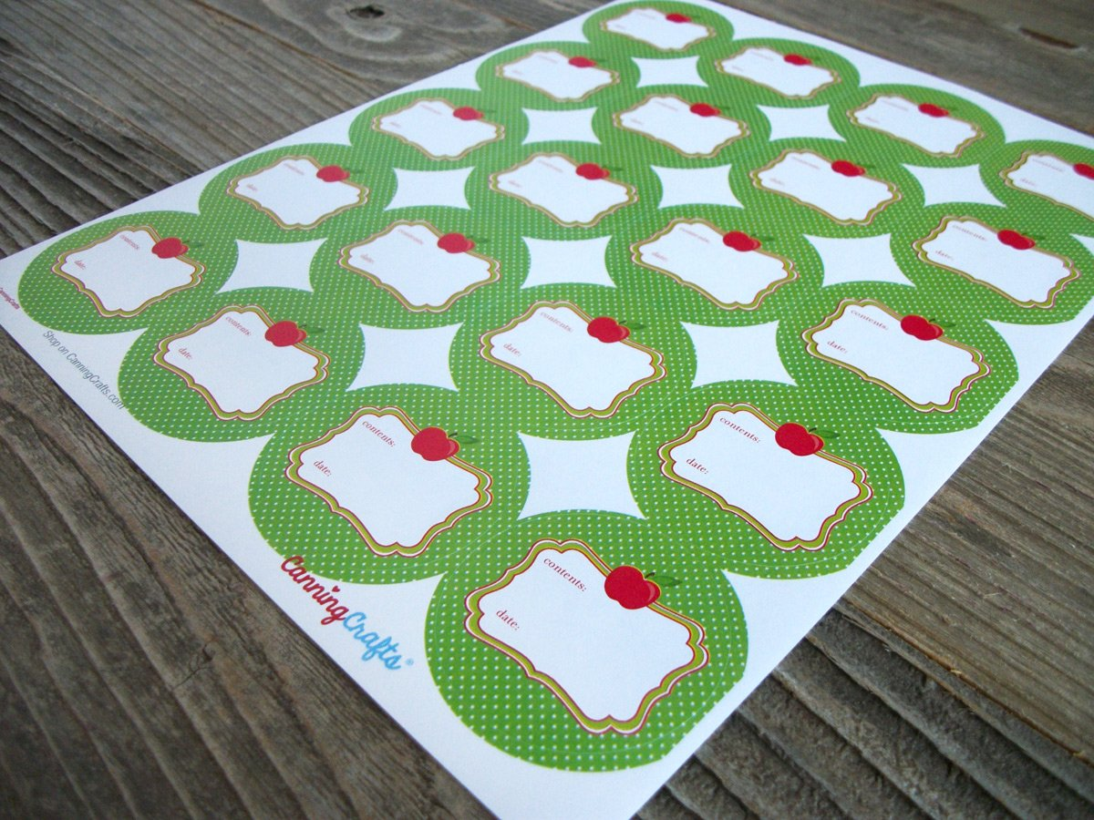 Cute Apple Canning Labels | CanningCrafts.com
