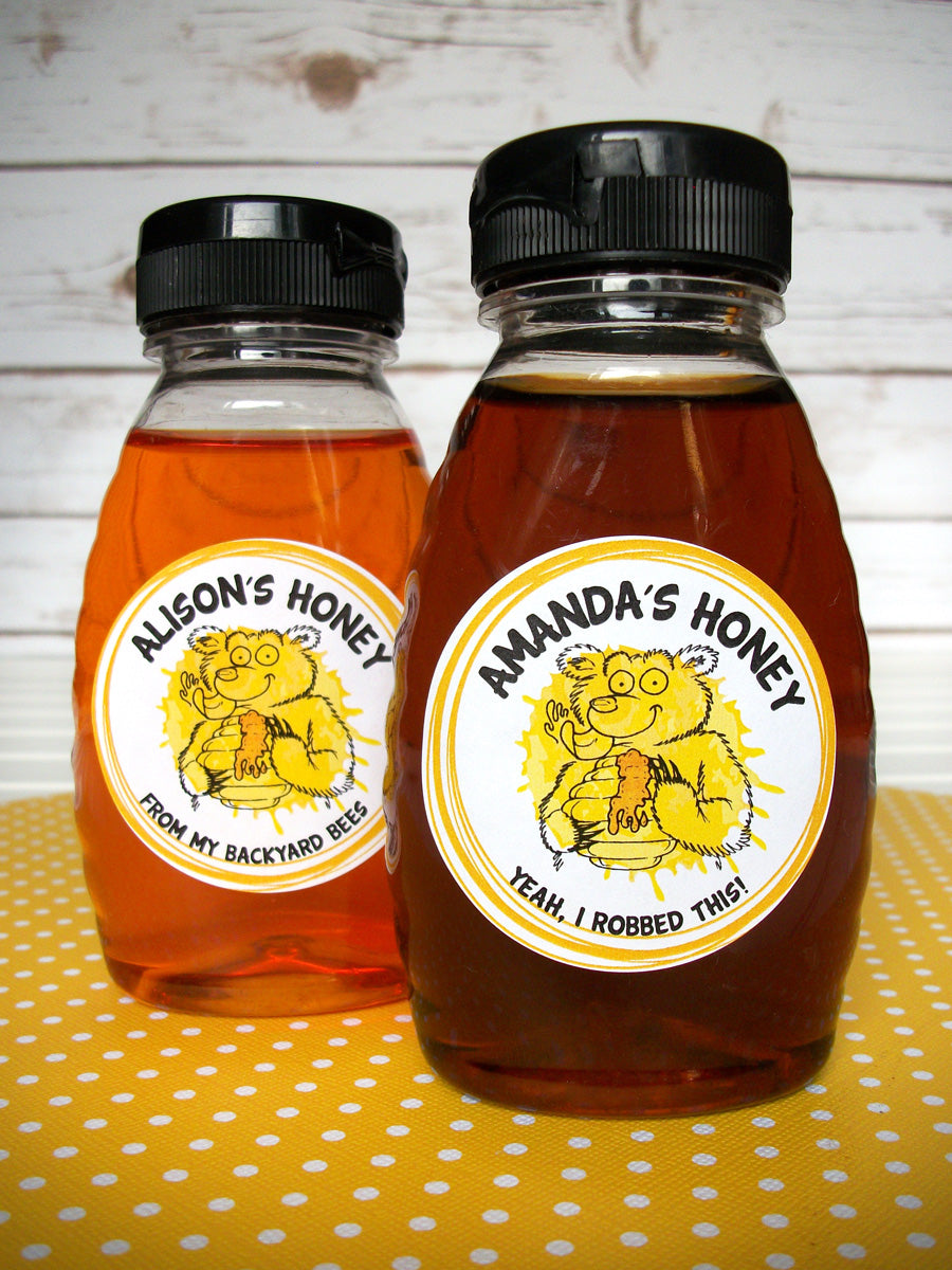 Custom Cute Bear honey labels | CanningCrafts.com