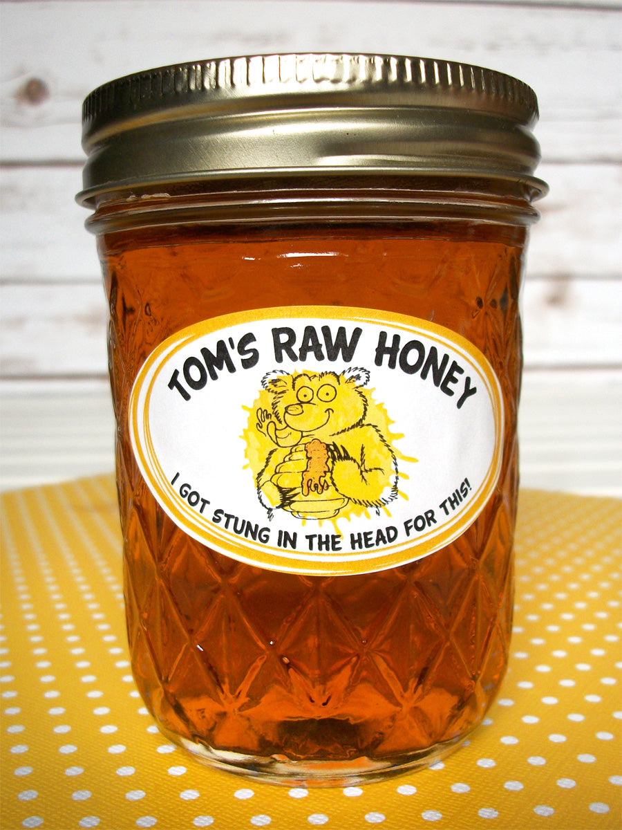 Custom Cute Bear oval honey jar labels | CanningCrafts.com