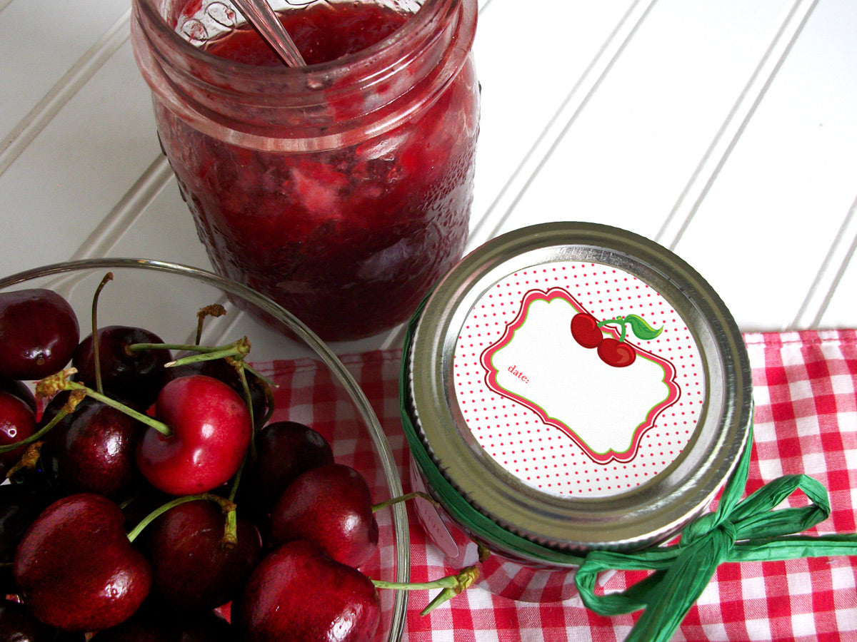 Cherry Mason Canning Jar Labels | CanningCrafts.com