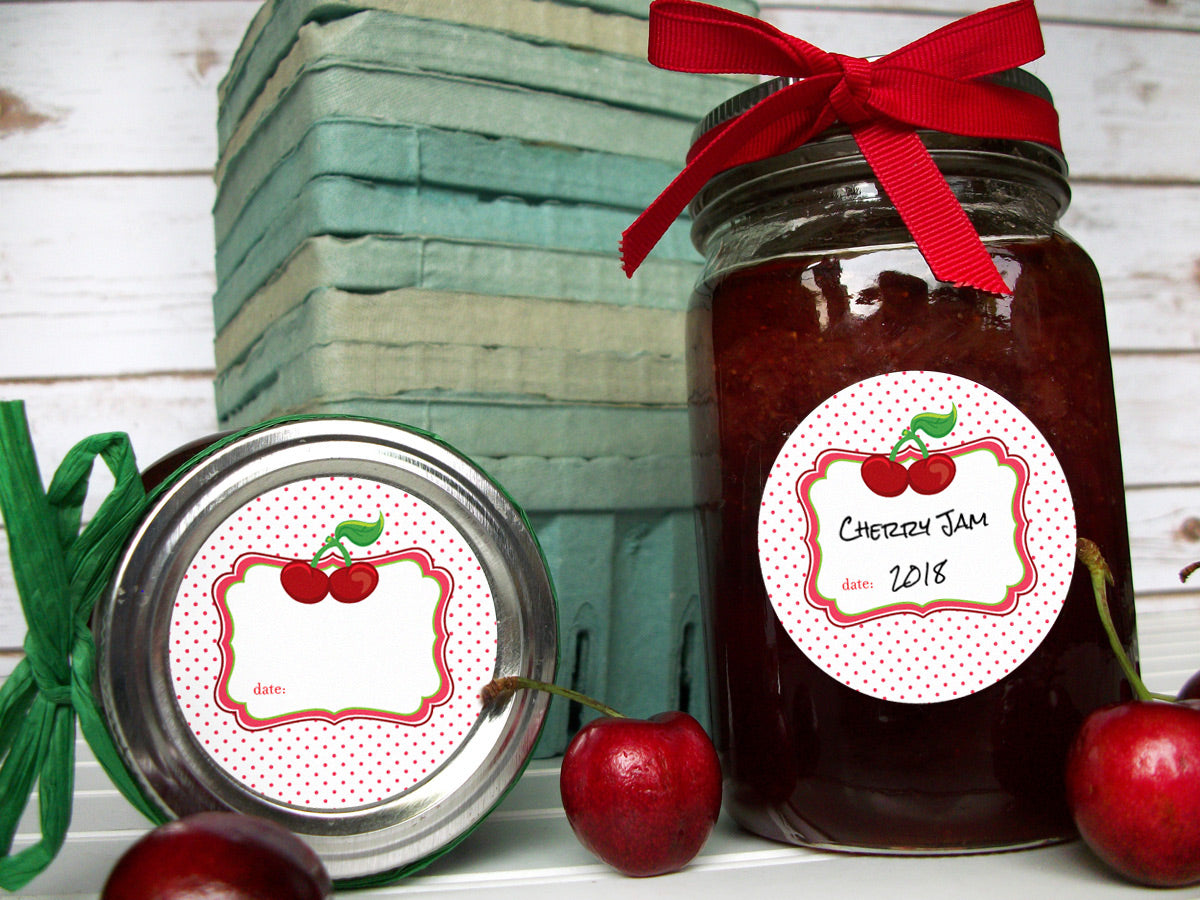 Cherry Jam & Jelly Canning Labels | CanningCrafts.com