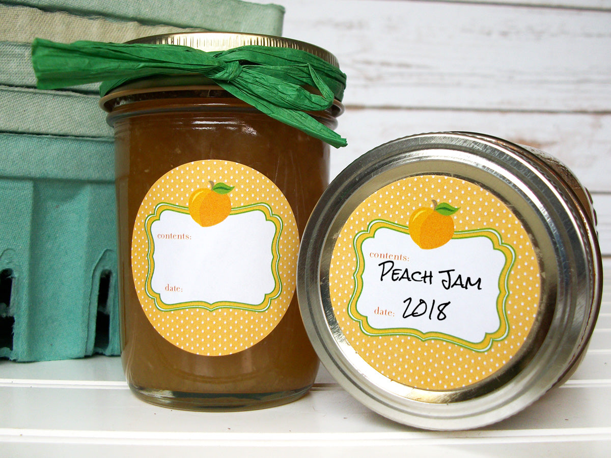Apricot Peach Canning Labels | CanningCrafts.com