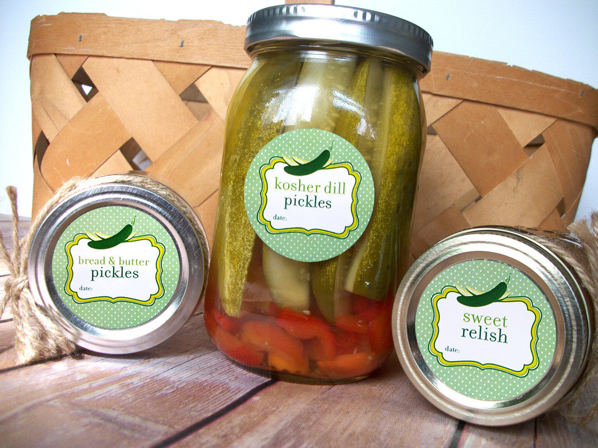 bread & butter pickle canning labels