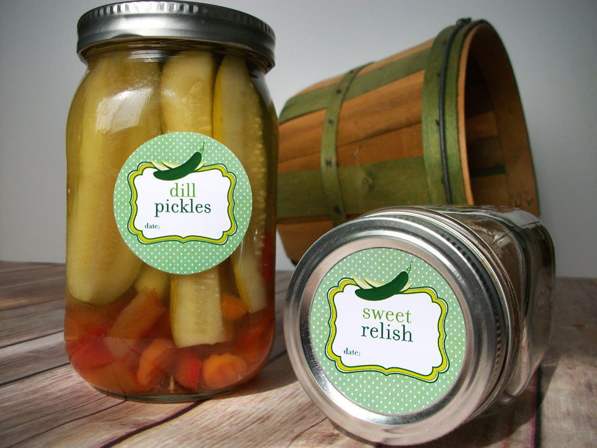 relish canning jar labels