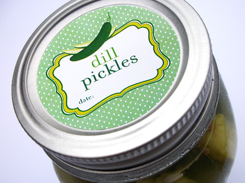 dill pickle canning jar labels