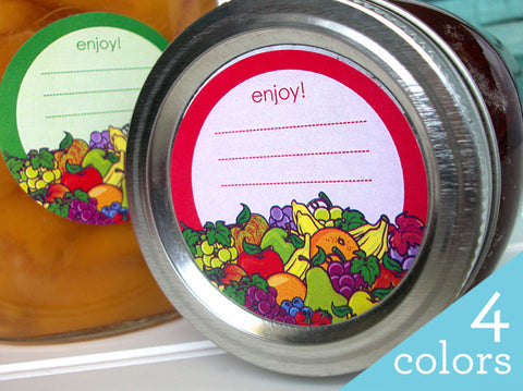 Enjoy Fruit Canning Labels | CanningCrafts.com