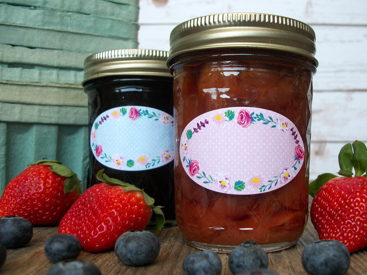 Oval Flower Canning Labels  | CanningCrafts.com
