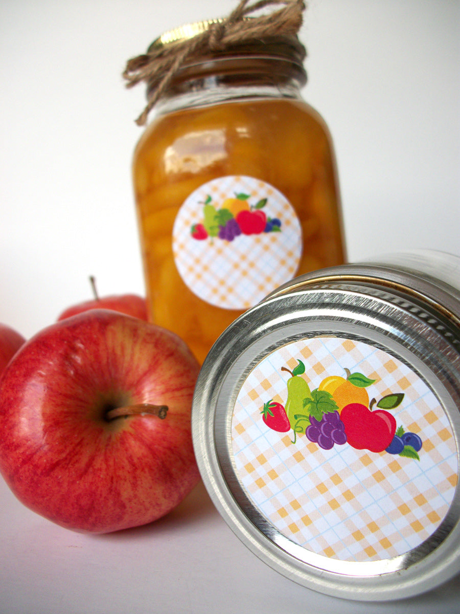 Fruit Mason Canning Jar Labels | CanningCrafts.com