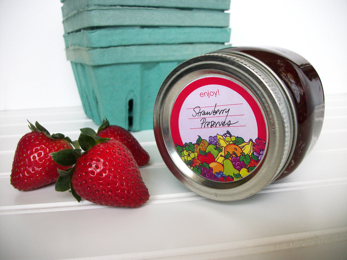 Fruit Canning Jam & Jelly Jar Labels | CanningCrafts.com