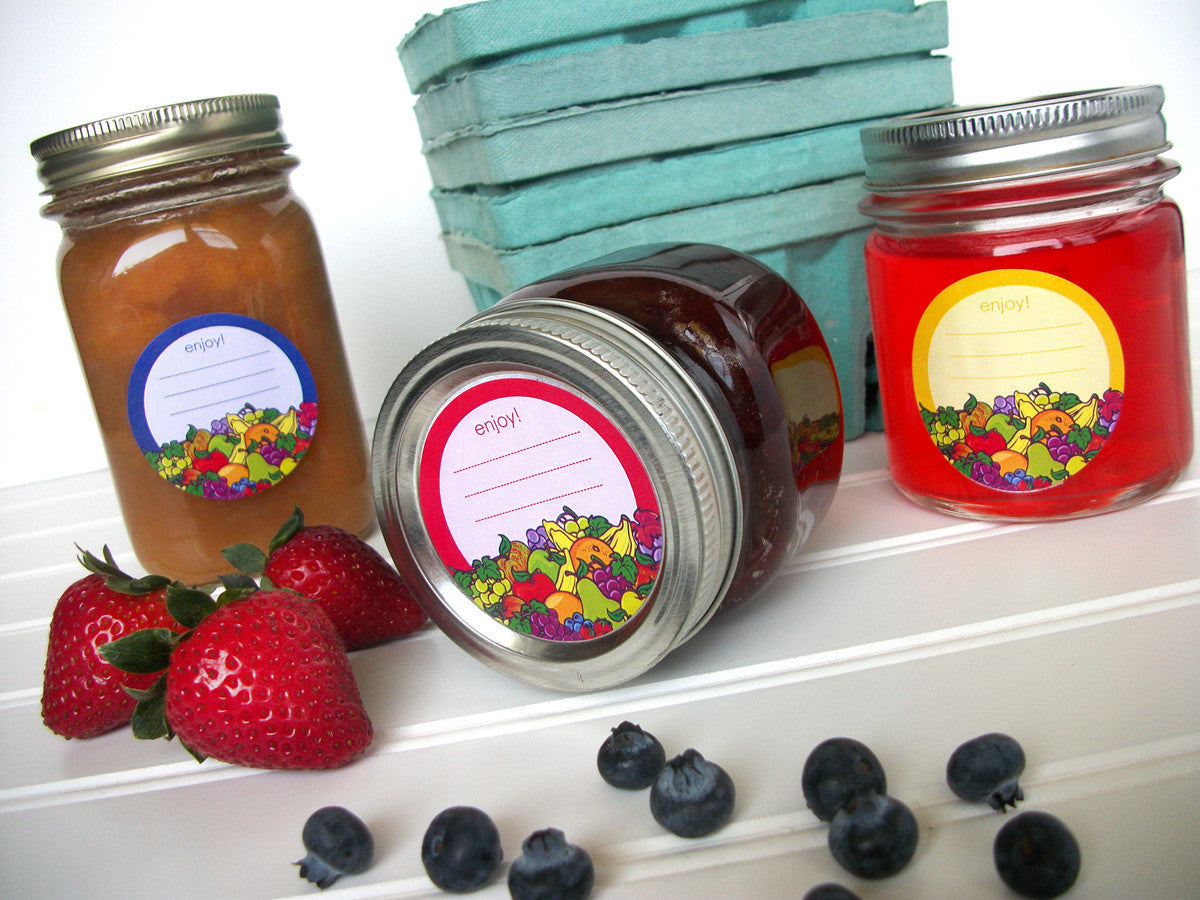 Enjoy Fruit Canning Labels