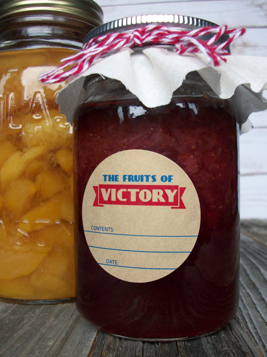 Fruits of victory garden canning jam jar labels | CanningCrafts.com