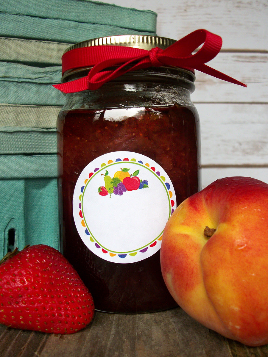 Fun Fruit Jam & Jelly Canning Jar Label | CanningCrafts.com