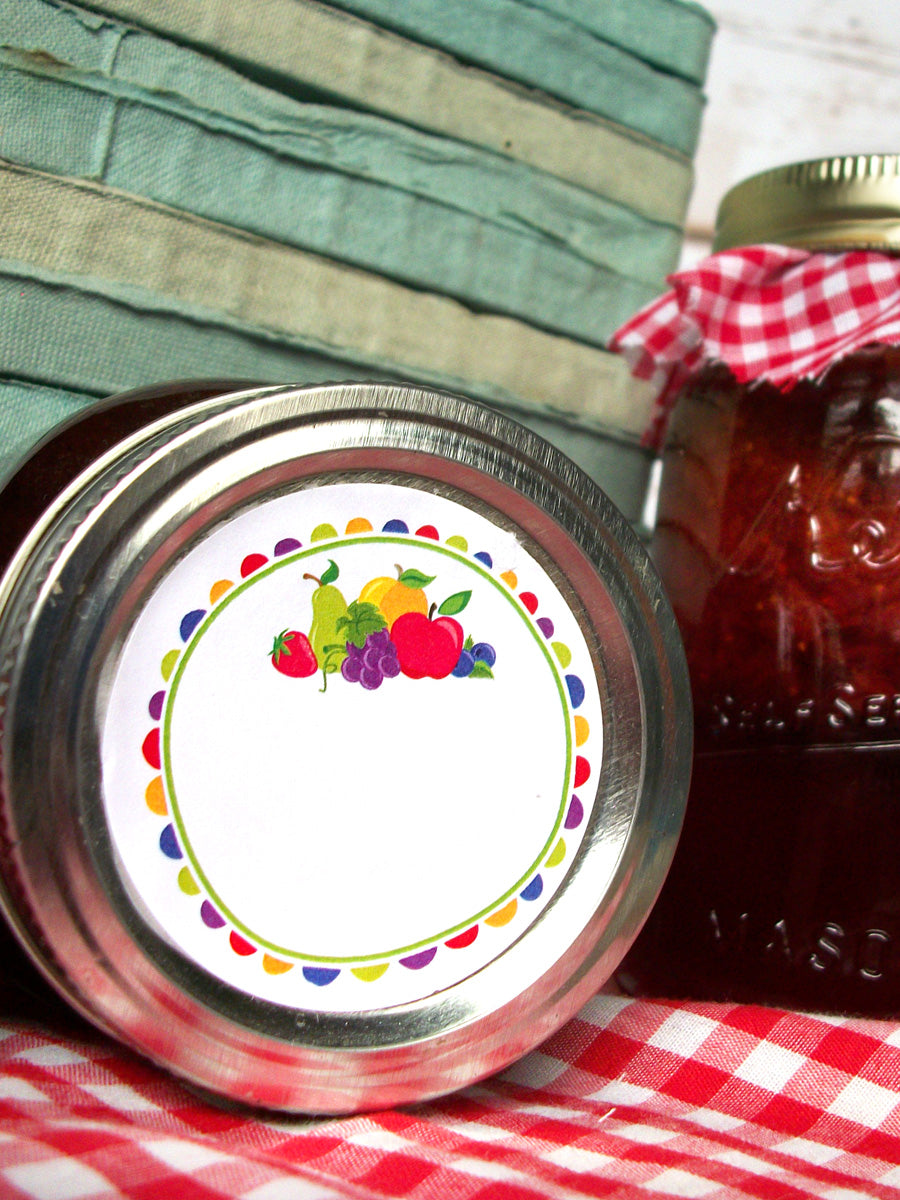 Fun Fruit Jam & Jelly Mason Canning Jar Labels | CanningCrafts.com