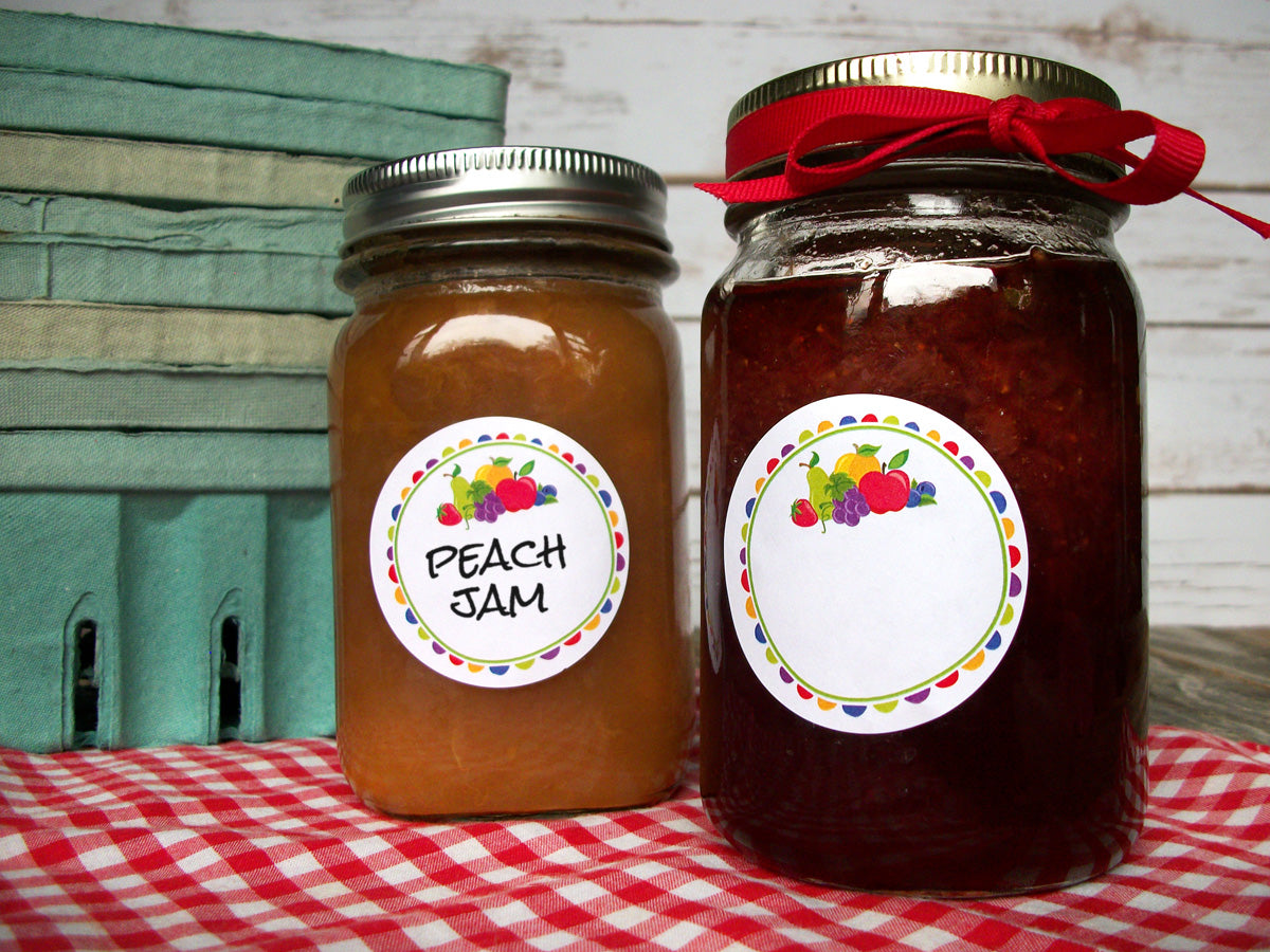 Fun Fruit Jam & Jelly Canning Labels | CanningCrafts.com