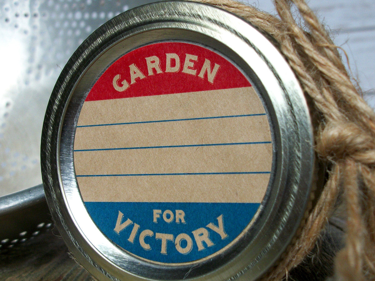 victory garden canning jar labels | CanningCrafts.com