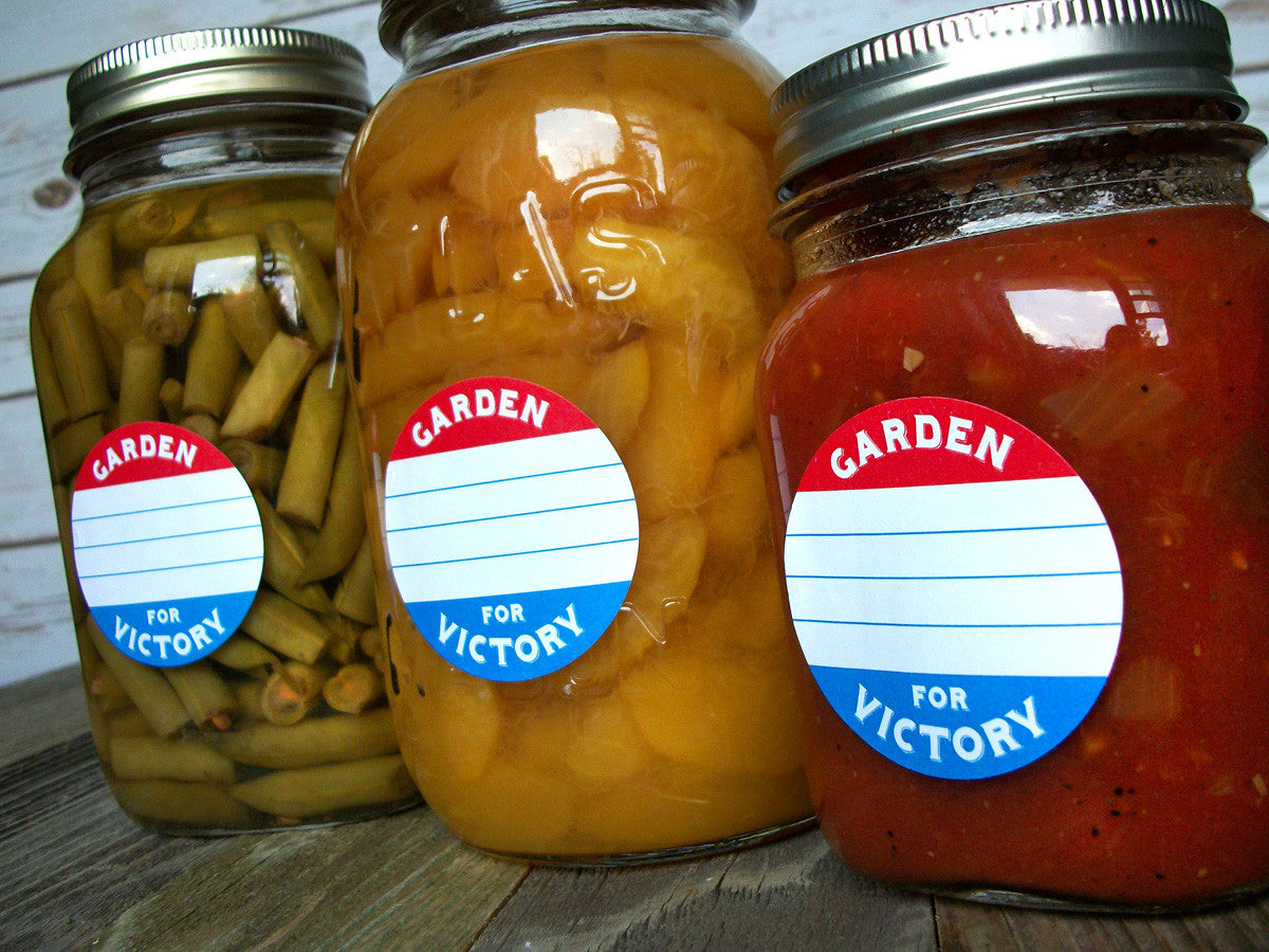 Victory Garden Mason Jar Labels | CanningCrafts.com