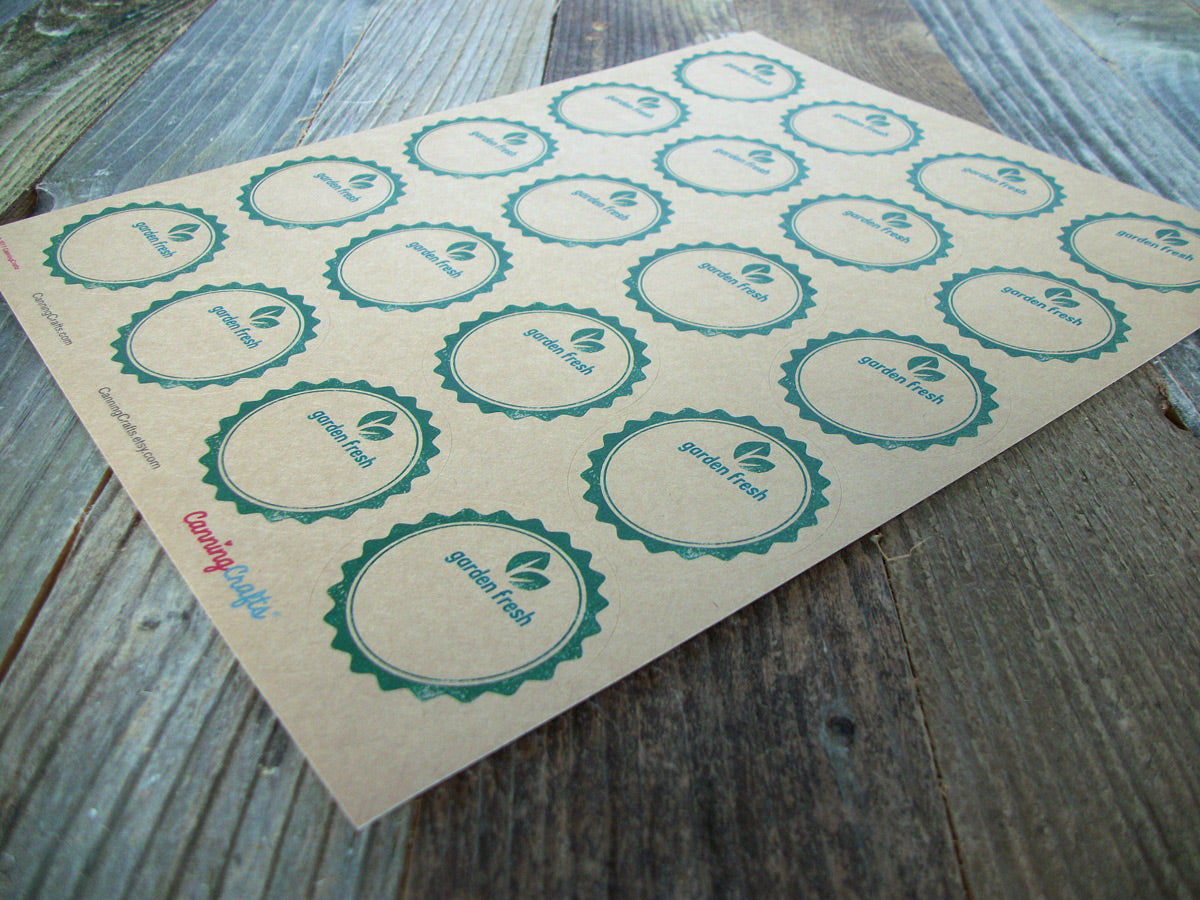 Garden Fresh kraft canning labels | CanningCrafts.com