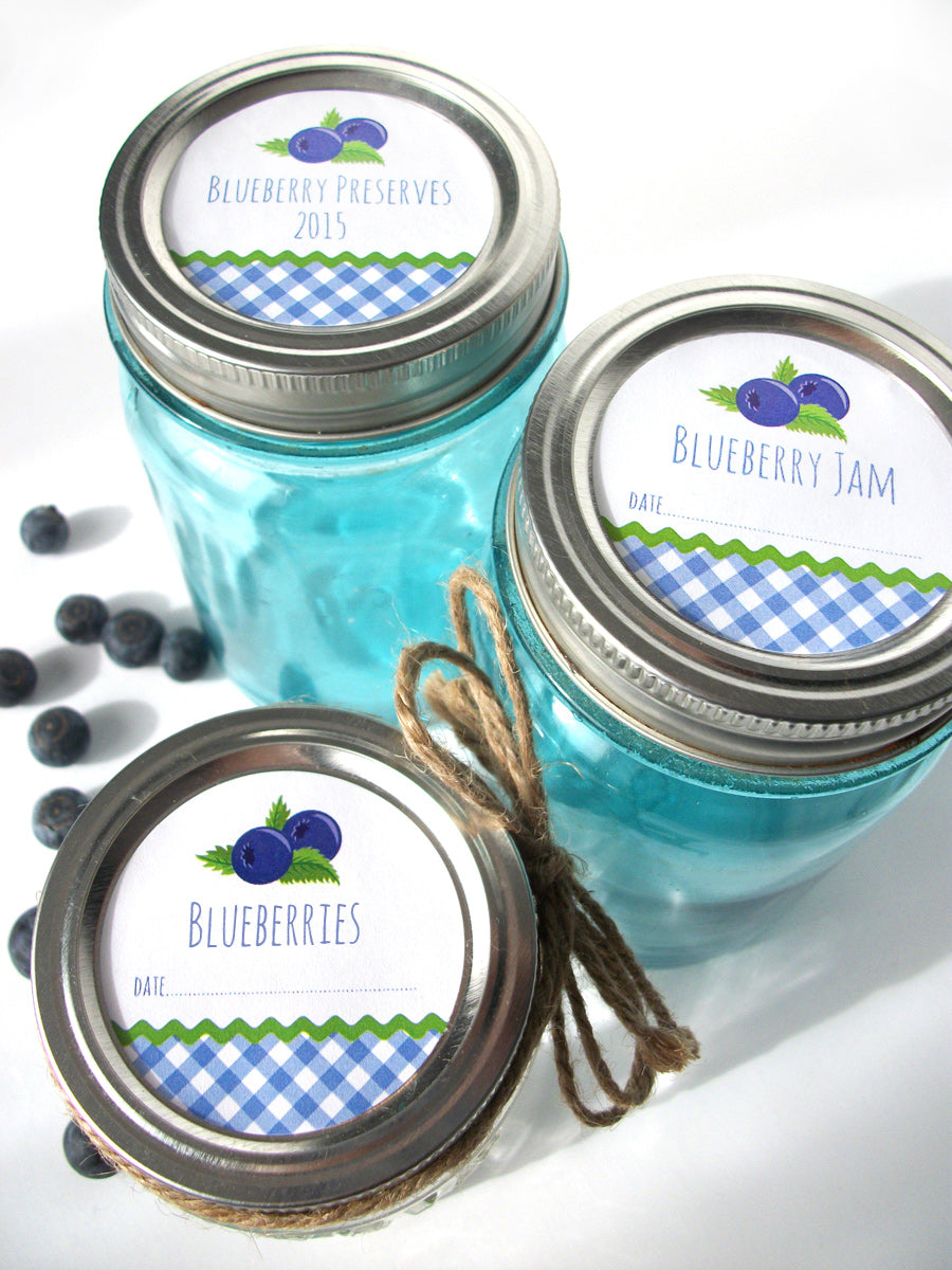 Blueberry Jam & Jelly Canning Jar Labels | CanningCrafts.com