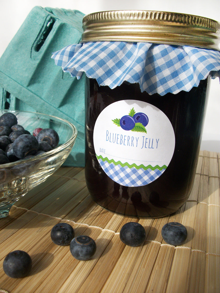 Blueberry Jelly Canning Jar Labels | CanningCrafts.com