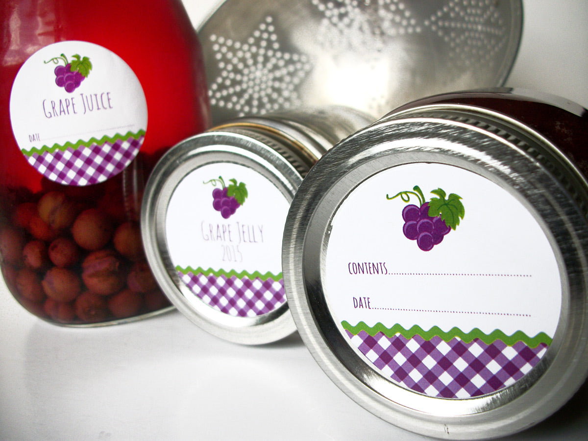 Purple Grape Canning Labels | CanningCrafts.com