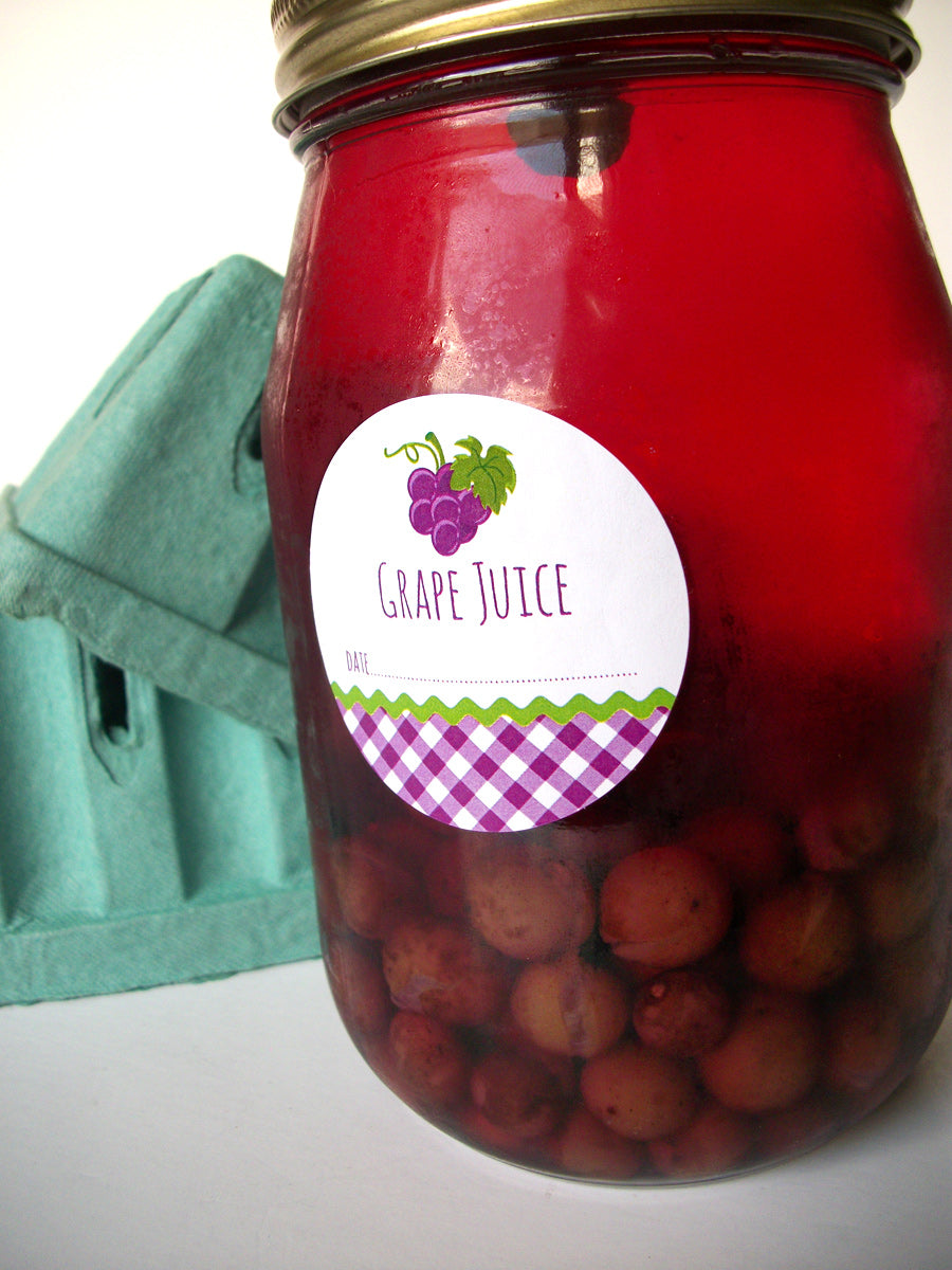 Grape Juice Canning Jar Labels | CanningCrafts.com